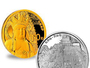 Chinese Sacred Buddhist Gold and Silver Coins