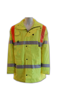 反光工業制服背心 拉鏈開胸工業背心外套 專業度身訂做工業背心外套 訂製反光背心 工業背