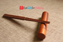 Engraved Personalized Fine Wood Portable Folding Chopsticks With Circular Wooden Chopsticks Box