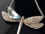 蜻蜓蜜語頸鍊: 採用進口施華洛世奇奧地利水晶元素韓國首飾批發IV-00085