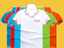 35% Cotton 7-Oz White Trim Custom Polo Shirts W Logo