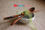 Personalized Wedding Favor - Engraved Personalized Natural Wooden Chopsticks & Spoon Set